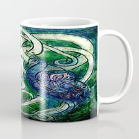 celtic Mugs featuring Celtic Peacocks by D. Renee Wilson