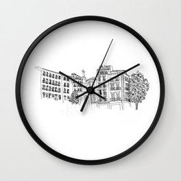 Plaza Bib Rambla, Granada, Spain Wall Clock