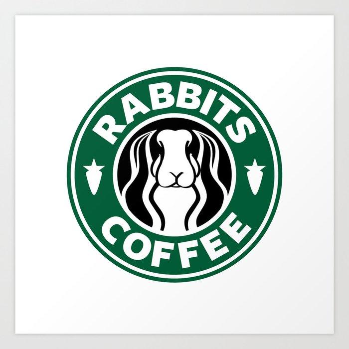 RABBITS COFFEE Art Print