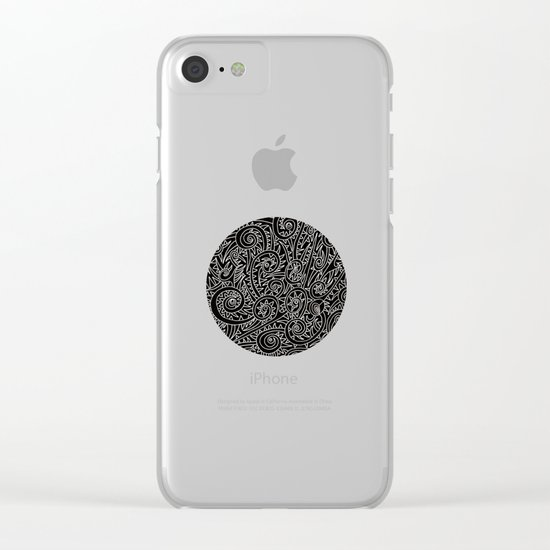 - burnt - Clear iPhone Case
