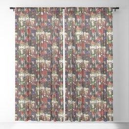 Nutcracker Soldiers Sheer Curtain