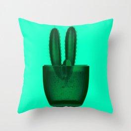 x-ray cactus Throw Pillow