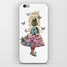Alice In Wonderland Magical Garden - Vintage Book iPhone Skin