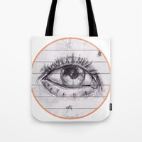 dave matthews Tote Bags featuring dave by SuperPills