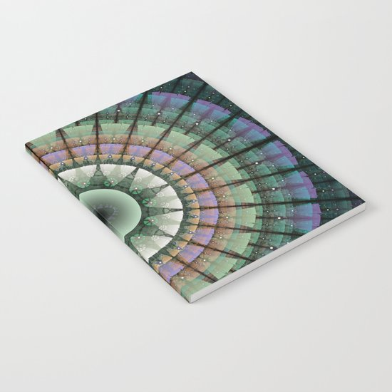 Groovy mandala with tribal patterns Notebook