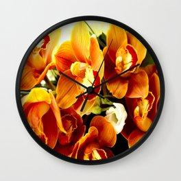 Orchid Corsage #decor #buyart #society6 Wall Clock