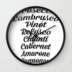 Italian wines Wall Clock