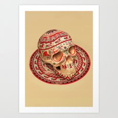 Mezen Skull Art Print