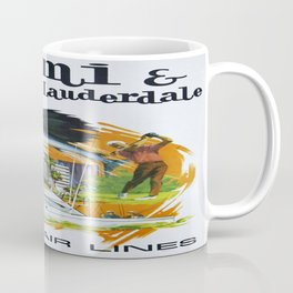 Vintage poster - Miami and Fort Lauderdale Coffee Mug