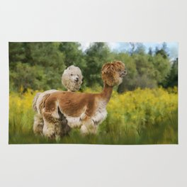 2 Little Llamas Rug