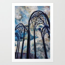 Seattle Science Center Arches Art Print