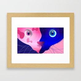 Two-faced Cat Framed Art Print