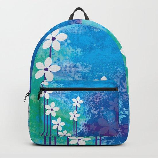 Watercolor Flowers Backpack