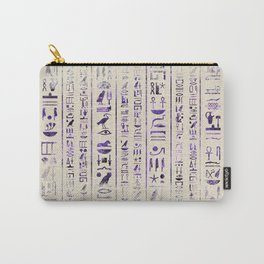 Amethyst Egyptian hieroglyphics on canvas Carry-All Pouch