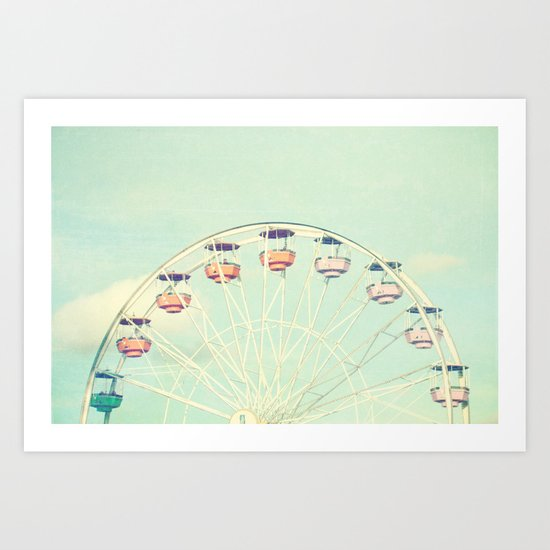 at the fair Art Print