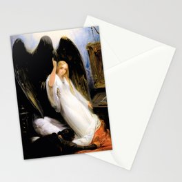 12,000pixel-500dpi - Horace Vernet - Study Of The Angel Of Death - Digital Remastered Edition Stationery Cards