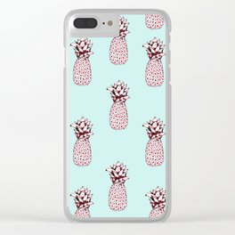 Pineapple & Mint Clear iPhone Case