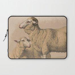 Vintage Domestic Sheep Illustration (1874) Laptop Sleeve