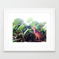 dinosaur Framed Art Prints featuring Dinosaur by cafelab