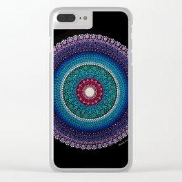 Caraibe Mandala Clear iPhone Case