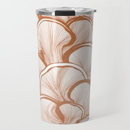 Mushrooms in Copper Travel Mug