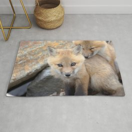 Watercolor Fox, Red Fox 49, Union Reservoir, Boulder County Rug