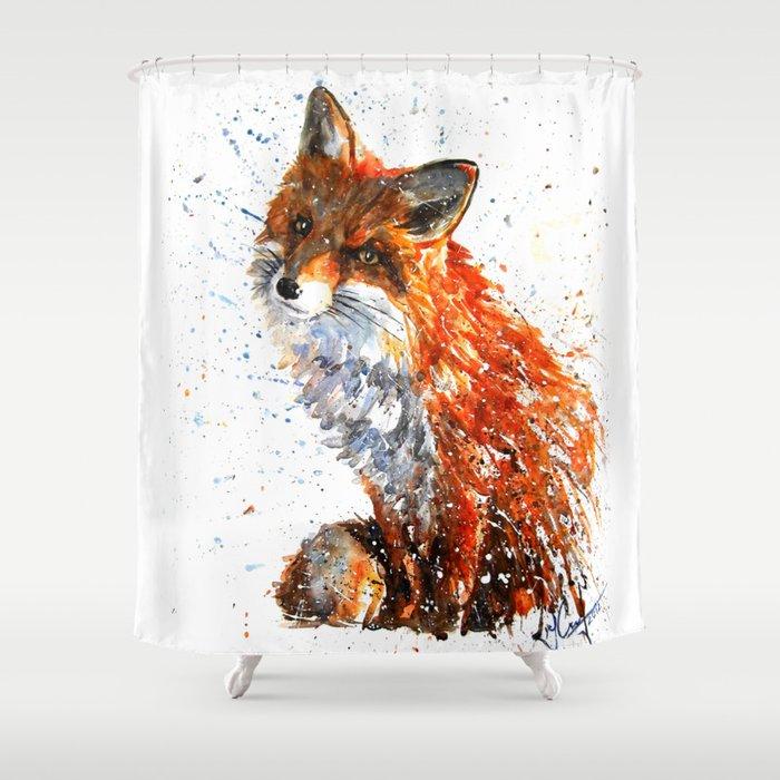 FOX Shower Curtain By Kostart