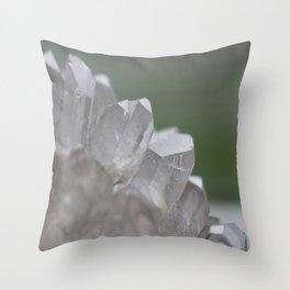 Clear Quartz Throw Pillow