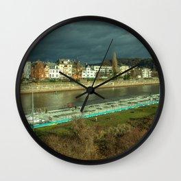 Koblenz Mosel Barge Wall Clock