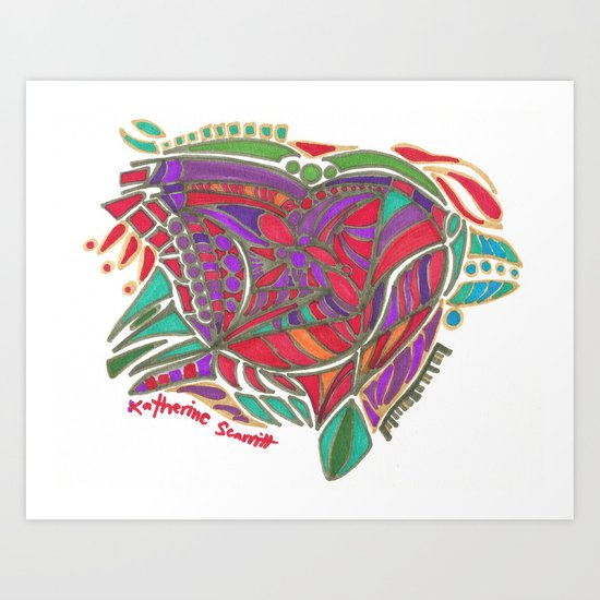 Earth Island Art Print