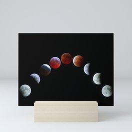Moon Phases (Blood Moon) Mini Art Print