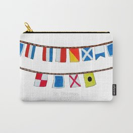 St Thomas Nautical Flags Carry-All Pouch