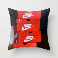 nike Throw Pillows featuring Nike by I Love Decor