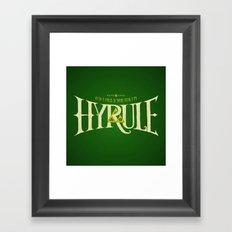 Hyrule Nation Framed Art Print