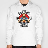 gym Hoodies featuring Sloth's gym by Buby87