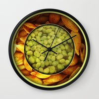 pasta Wall Clocks featuring Pasta + Beans by romano