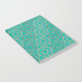 Donut Pattern (teal) Notebook