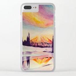 Winter Wonderland in Mount Rainer Clear iPhone Case