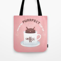 You're my Purrfect cup of Coffee Cat Tote Bag