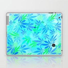 Blue Mint Cannabis Swirl Laptop & iPad Skin