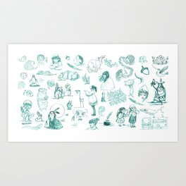 Sketches Art Print