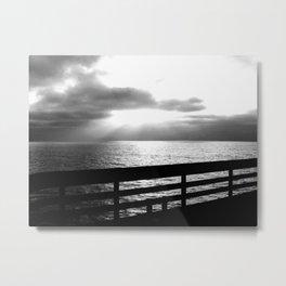 Cloudy lights Metal Print