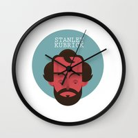 kubrick Wall Clocks featuring STANLEY KUBRICK by Gerardo Lisanti