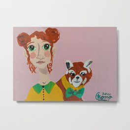~ Mr. Red Panda and His Girl ~ Art By Milly Moo 12 Year Old Artist Metal Print