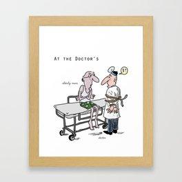 At the hospital Framed Art Print