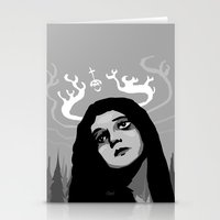 antler Stationery Cards featuring Annie Antler by Stephan Brusche