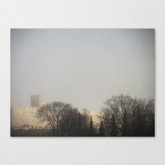 Foggy Castle Canvas Print