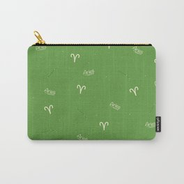 Aries Pattern - Green Carry-All Pouch