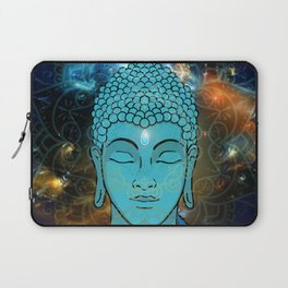 Blue Face of Buddha in the Galaxy Laptop Sleeve