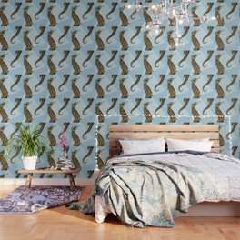Seahorse Triangle Geometric Modern Beach House Colorful Wallpaper